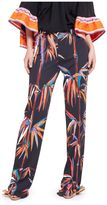 Emilio Pucci Floral Print Flared Trousers