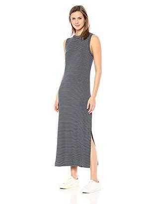 Daily Ritual Women's Jersey Mock-Neck Maxi Dress,L