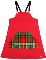 Junior Gaultier Milano Jersey & Plaid Flannel Dress
