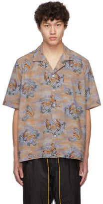 Rhude Brown Eagle Printed Shirt