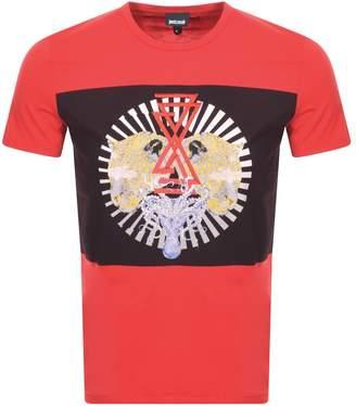 Just Cavalli Cavalli Class Pattern Logo T Shirt Red