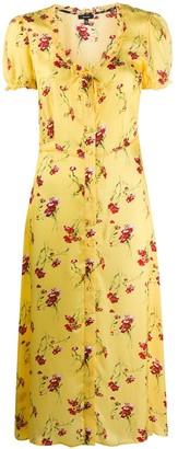 R 13 Floral Midi Dress