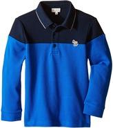 Paul Smith Bi-Color Long Sleeves Polo Boy's Long Sleeve Pullover