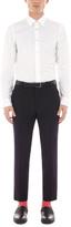 Paul Smith Men's Slim-Fit White Stripe-Cuff Cotton Shirt
