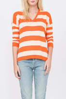 Qi Striped V-Neck Pullover