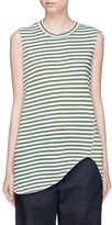 Bassike Stripe asymmetric organic cotton tank top