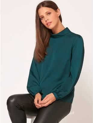 M&Co High neck satin blouse