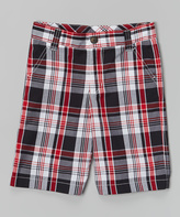 E-Land Kids Red & Black Plaid Shorts - Toddler & Boys