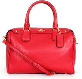Coach Pebble Leather Mini Bennett Satchel F36677 in
