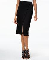 Kensie Faux-Wrap Ponte Pencil Skirt