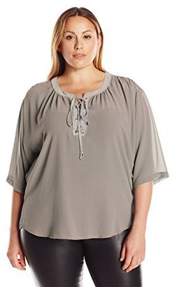 Single Dress Women's Plus Size Valencia Laceup Top