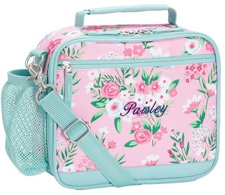 Pottery Barn Kids Mackenzie Aqua Pink Bouquets Lunch Boxes