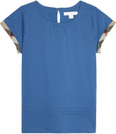 Burberry Gisselle check sleeve cotton t-shirt 4-14 years