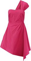 Carven One-shoulder taffeta mini dress