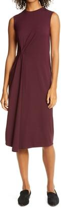 Vince Gathered Sleeveless Dress