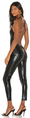 Norma Kamali Low Back Fara Slip Catsuit