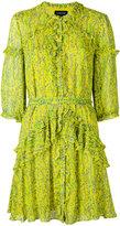 Saloni printed frill dress - women - Silk/Polyester - 6