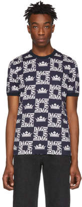 Dolce & Gabbana Blue Crown Logo T-Shirt