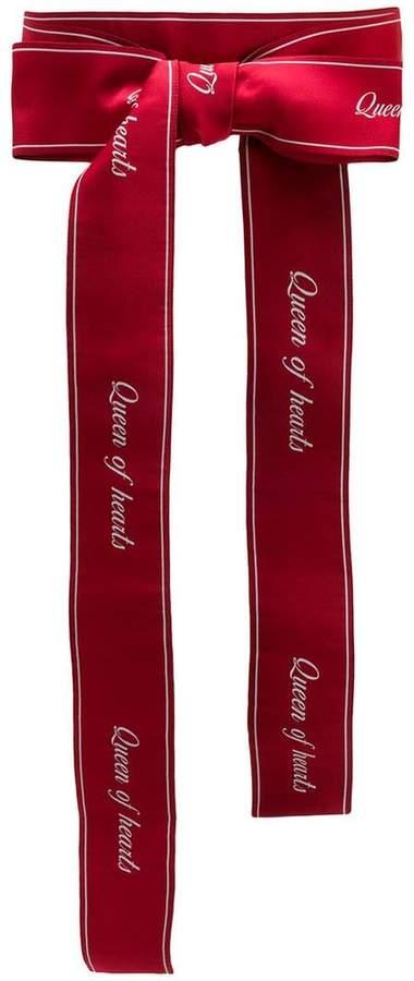 Dolce & Gabbana Queen of hearts printed belt