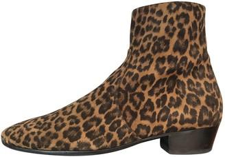 Saint Laurent Camel Suede Boots