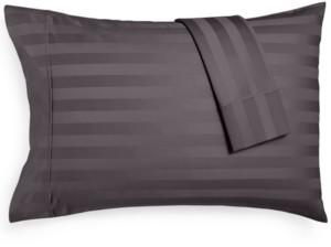 Aq Textiles Bergen Stripe Certified 100% Egyptian Cotton 1000-Thread Count King Pillowcases, Set of 2 Bedding