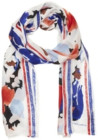 Vince Camuto Bloom-print Scarf