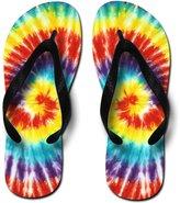 Freetoe Tie Dye Cool Printed Unisex-Adult Flip Flops, Small