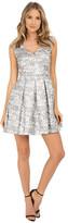 Aidan Mattox V-Neck Jacquard Dress