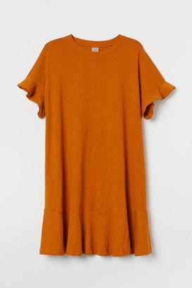 H&M H&M+ Jersey T-shirt Dress - Yellow