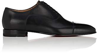 Christian Louboutin Men's Greggo Flat Leather Balmorals - Black