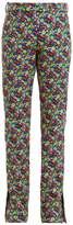 MSGM Floral-print cotton-twill trousers