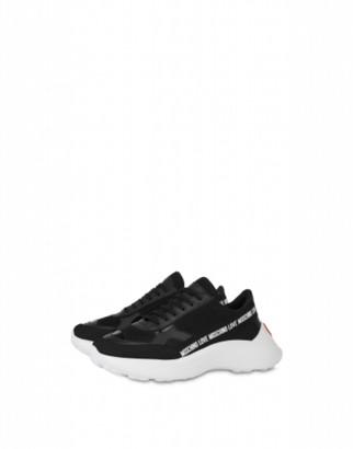 Love Moschino Ribbon Logo Mesh Sneakers