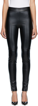 Wolford Black Faux-Leather Estella Leggings