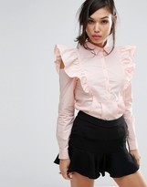 Fashion Union Shirt With Sleeve Detail