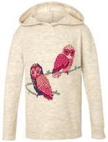 Fat Face Children's Owl Hoodie, Cream