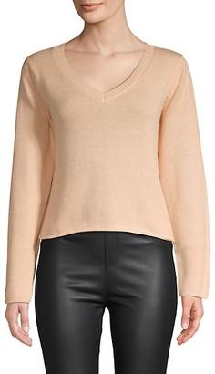 Wythe Ny Cropped V-neck Sweater