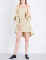 J.W.Anderson Cold-shoulder cotton dress