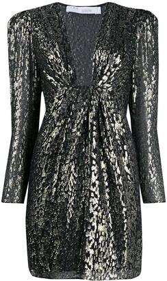 IRO Shimmer Leopard Print Dress