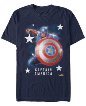 Marvel Men's Captain America Super Shield, Short Sleeve T-Shirt