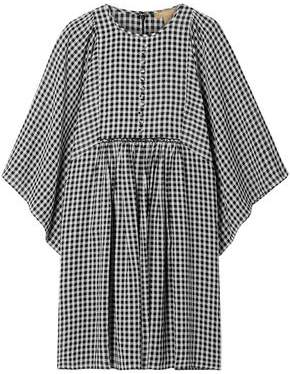 Michael Kors Gingham Seersucker Mini Dress