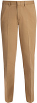Cotton Chino Dash Trouser In Camel