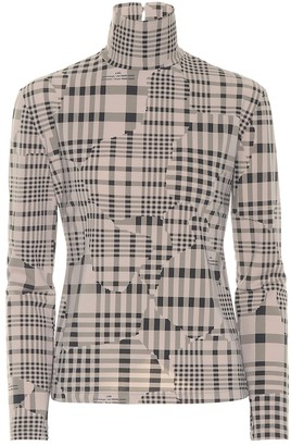 Rokh Checked jersey top