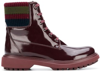 Geox varnished lace-up boots
