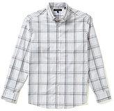 Vince Camuto Long-Sleeve Pique Plaid Woven Shirt