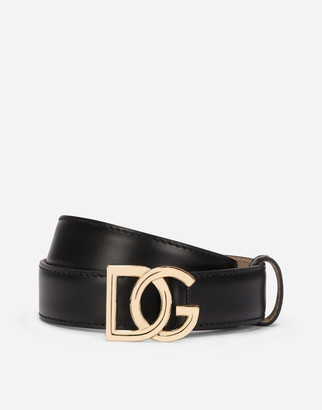 Dolce & Gabbana Leather Belt With Millennials Logo