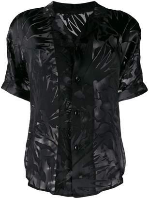 Saint Laurent Sheer Tonal Hawaiian Shirt