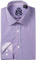 English Laundry Check Trim Fit Dress Shirt