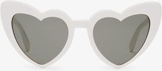 Saint Laurent Loulou Heart-shaped Acetate Sunglasses - Womens - White