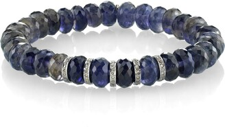 Sheryl Lowe 5-Rondelle Iolite & Diamond Bracelet