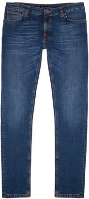 Nudie Jeans Skinny Lin blue slim-leg jeans